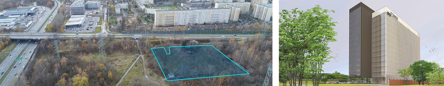 Investment plot in Katowice Bogucice for sale