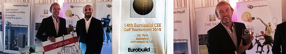 Leach & Lang at the Eurobuild CEE Golf Championship